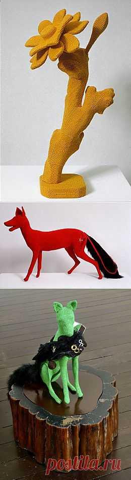 Вязаные скульптуры Луис Уивер (Louise Weaver)