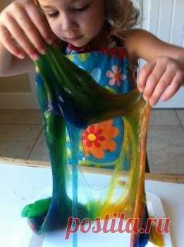 Творим с детьми: цветная тягучка — Своими руками
