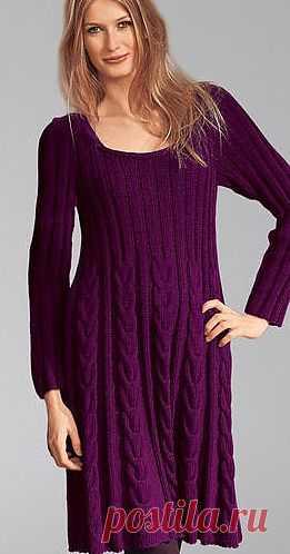 Теплое платье спицами / Вязание для женщин спицами. Схемы / PassionForum - мастер-классы по рукоделию