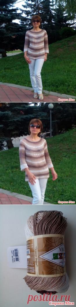 Простой летний пуловер - Вязание - Страна Мам