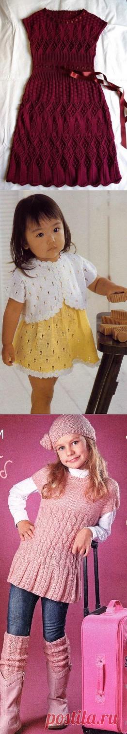 Архивы Детские платья, сарафаны, туники спицами - Страница 14 из 19 - Попкорн - детское вязание спицами и крючком