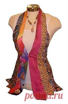 Жилет из галстуков / Мужские галстуки / Модный сайт о стильной переделке одежды и интерьера