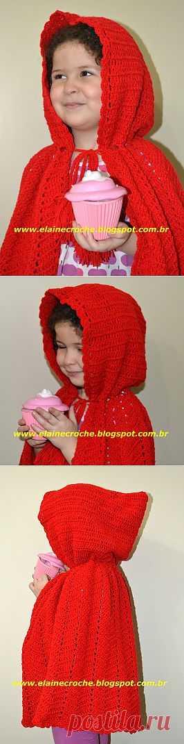 Elaine Croche: Capa Chapeuzinho Vermelho em Crochê
