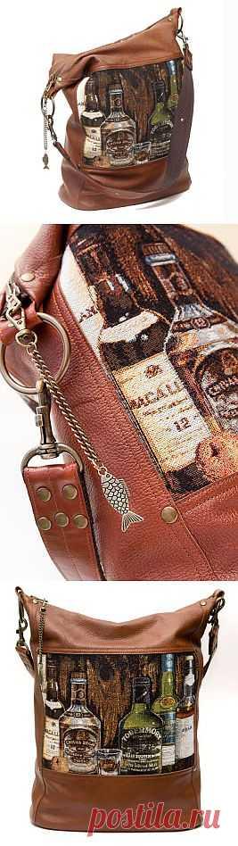 Гобелен и кожа - дубль два / Сумки, клатчи, чемоданы / Модный сайт о стильной переделке одежды и интерьера