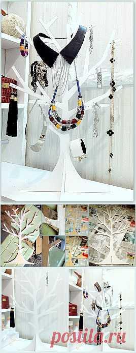 Дерево для украшений своими руками / Организованное хранение / Модный сайт о стильной переделке одежды и интерьера