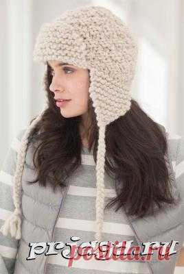 шапка ушанка спицами из толстой пряжи схемы вязания постила