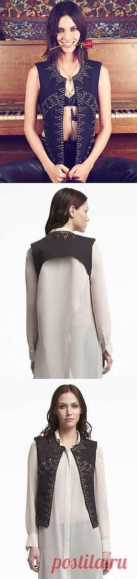 Жилет с металлической отделкой / Жилеты / Модный сайт о стильной переделке одежды и интерьера