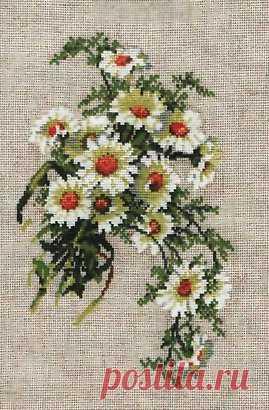 Вышивка ромашки схемы. Бесплатные цветные схемы вышивки крестом | Домоводство для всей семьи.