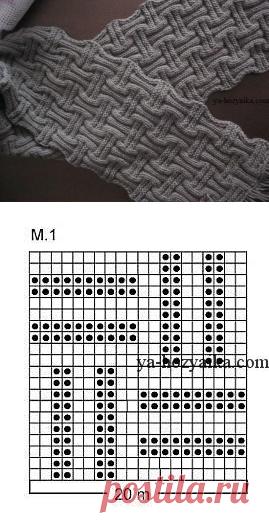 вязание спицами мужской шарф схемы двусторонний шарф спицами схемы
