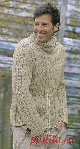 Мужской пуловер от Phildar