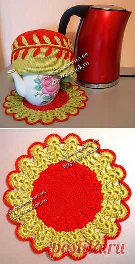 Грелка на заварочный чайник - вязание крючком на kru4ok.ru