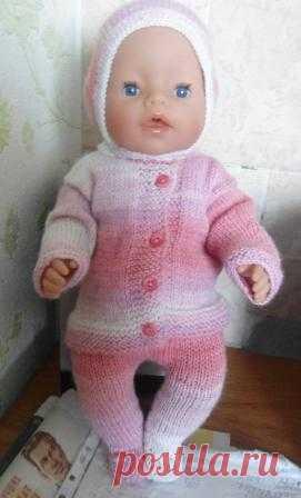 вязаная одежда для пупса вязание спицами и крючком вяжем куклам