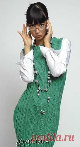 Красивый вязаный сарафан | ДОМОСЕДКА