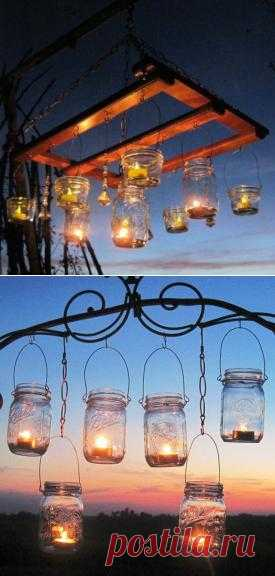 Illumination in a garden from candles, a master class. Everything is simple!