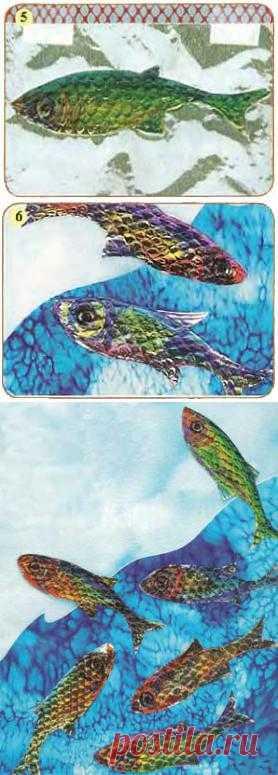 Рыбки из фольги