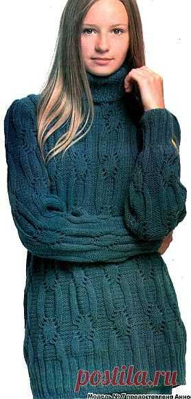 Вяжем джемпер / Вязание для женщин спицами. Схемы / PassionForum - мастер-классы по рукоделию