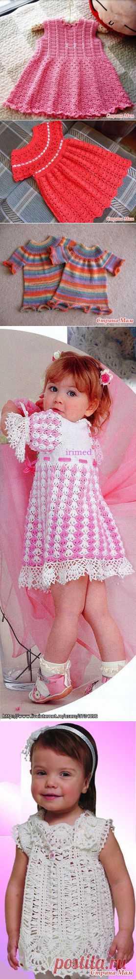 Избранное вязание платья для девочек.