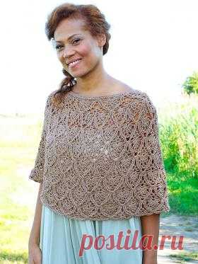 The lacy summer poncho the Openwork poncho for women is connected by a tremendous pattern. Schemes for work are provided in the description. Skills of knitting are necessary for performance of such work...