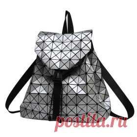 La mochilla de estilo femenina de los triángulos brillantes | Aliekspress en el ruso. shopperali.ru Aliekspress bueno.