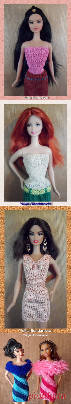 Sticka till Barbie - we knit spokes - Kimberly Club. Clothes for dolls.
