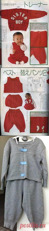 Детский костюм из толстовки / Для детей / Модный сайт о стильной переделке одежды и интерьера
