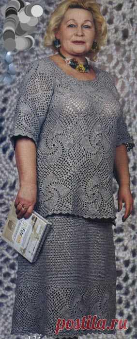 модели для полных женщин схемы вязания скачать бесплатно вязание