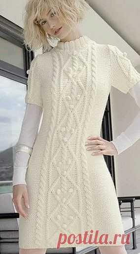 Платье спицами / Вязание для женщин спицами. Схемы / PassionForum - мастер-классы по рукоделию