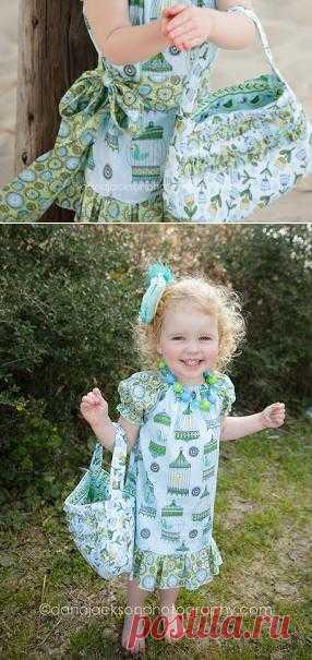 Детское летнее платье с сумочкой в комплекте