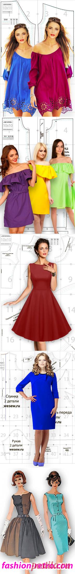El patrón preparado de la túnica a la moda veraniega en cuatro dimensiones