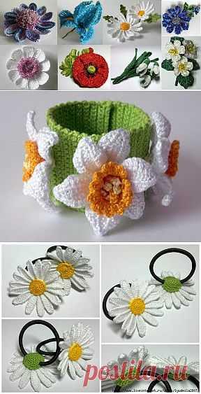 Ксения Николаева и её чудесные цветы крючком.
