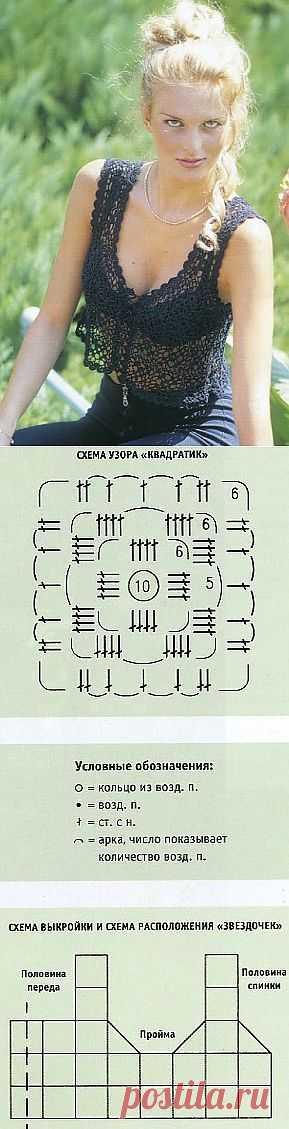 АЖУРНАЯ КОФТОЧКА КРЮЧКОМ.