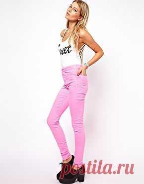 Неоновые розовые джинсы - руб. 1,628.82