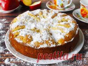 Пирог на простокваше с яблоками Тесто: Простокваша - 125 мл Мука - 160 г Сливочное масло - 25 г Яйцо куриное - 1 шт. Сахар - 100 г Ванилин - 0,5 ч.л. Сода - 0,3 ч.л.  Начинка: Яблоко - 1 шт.