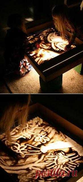 Как сделать световой ящик для рисования песком своими руками. Очень популярная техника релакса у вас дома. Полезно для развития фантазии и воображения.