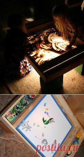 Как сделать световой ящик для рисования песком своими руками.