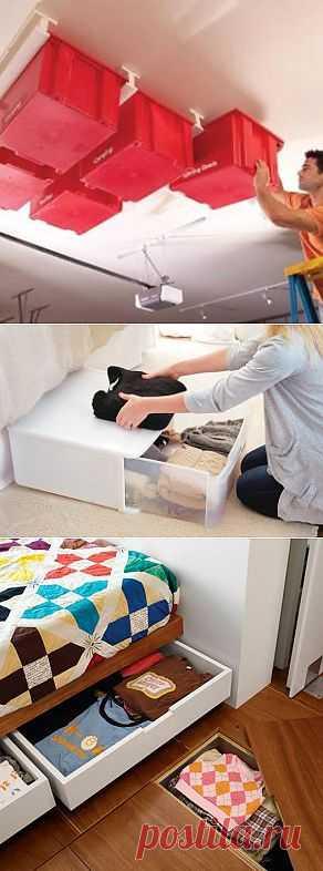 5 идей, где хранить вещи вне шкафа