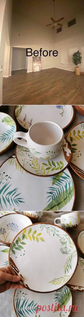 Роспись керамической посуды ручной работы от талантливой Юлии Осока, есть,...   Интересный контент в группе Гнездышко