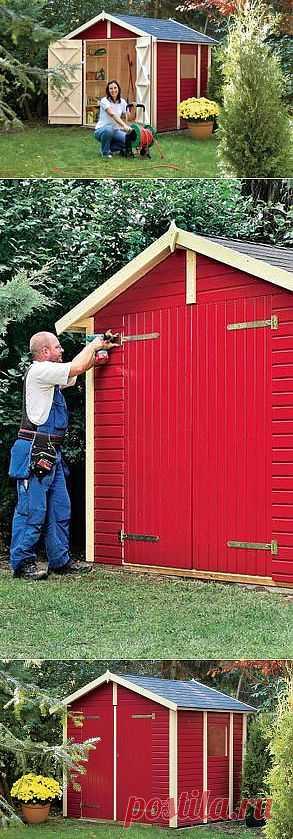 Как сделать домик для садово-огородного инвентаря своими руками.