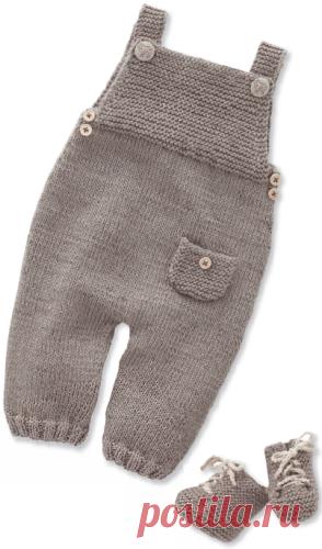 детский комбинезон на лямках спицами детский комплект комбинезон