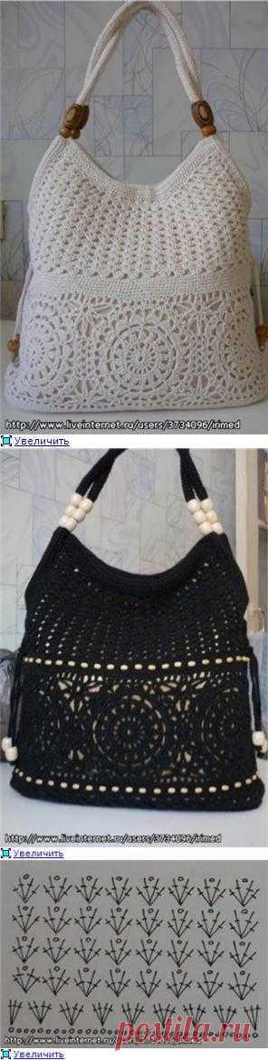 Черная сумка крючком. Комментарии
