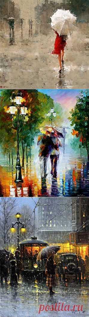 (+1) - =Она уходила в дождь...=   Искусство