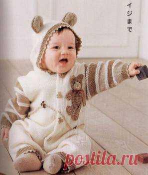 Схемы вязания комбинезонов новорожденным