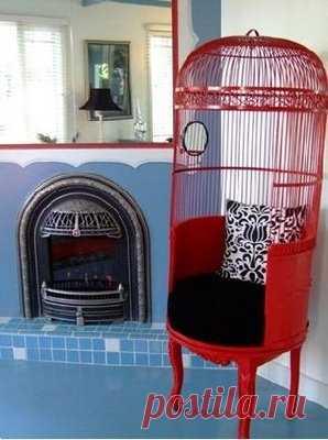 кресло из клетки