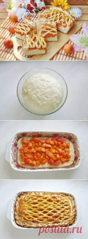 Дрожжевой пирог с абрикосами - пошаговый рецепт с фото на Повар.ру