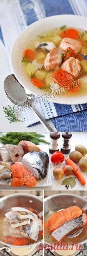 Уха с картофелем и помидорами
