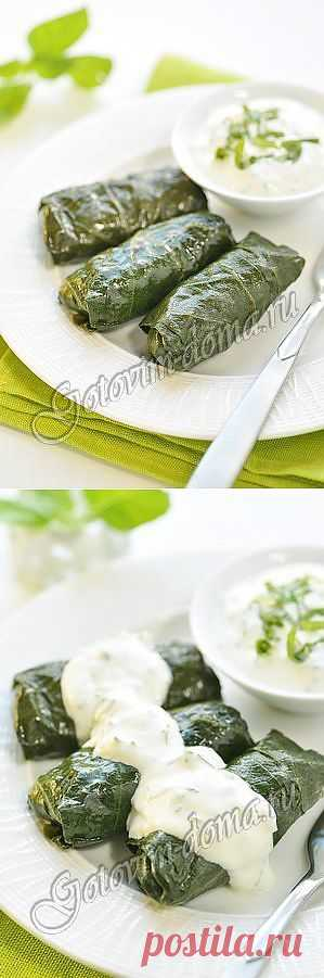 Рецепт: Долма (голубцы в виноградных листьях)