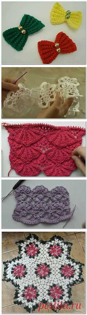 About knitting: Knitting by a hook for beautiful girls