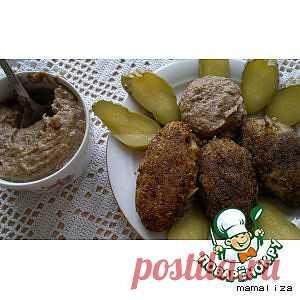 Картофельно-гречневые котлеты под грибным майонезом - кулинарный рецепт