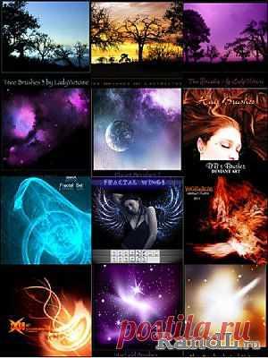 Коллекция кистей для Фотошоп 2 » RandL.ru - Все о графике, photoshop и дизайне. Скачать бесплатно photoshop, фото, картинки, обои, рисунки, иконки, клипарты, шаблоны.