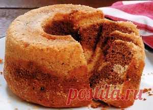 Мраморный торт Для приготовления мраморного торта берем:  2 ст. муки 2 ч.л. порошка для выпечки 1/4 ч.л.  соды 1/4 ч.л. соли 3/4 ст.л. сливочного масла 1/3 ст. сахара 3 спелых банана (нарезать) 2 ч.л. ванильного экстракта 3 яйца 6 ст.л. сметаны 100 гр шоколада (нарезанного)